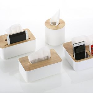Paper-Primary-color-wood-oak-Car-Home-Rectangle-Shaped-Tissue-Box-Container-Towel-Napkin-Tissue-Holder